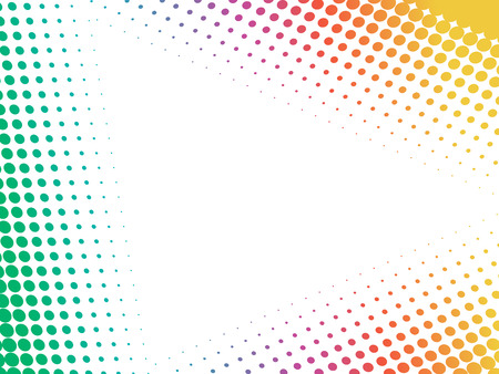 circumference: abstract rainbow dotted card. Vector