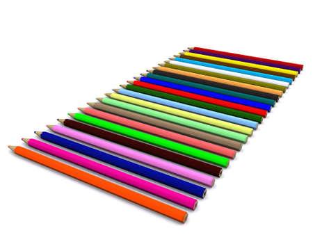 sharp: color pencils. 3D