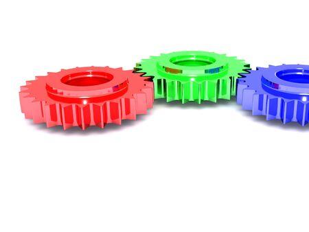 RGB gears. 3d Stock Photo - 4798555