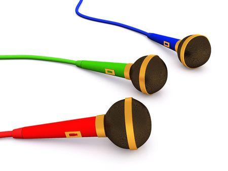 rgb: rgb microphone group. 3D