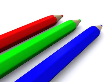 RGB pencils. 3D Stock Photo - 4798557