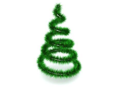 christmas tree. 3d photo