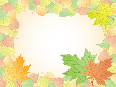 autumn leaves frame. vector Stock Vector - 5439747