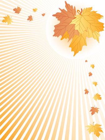 Jesienne liście abstrakcyjne. wektor Ilustracja