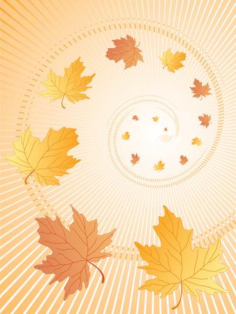 jesień pozostawia abstrakcyjna. Wektor
