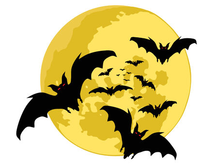 halloween backgrounds. bats silhouette . vector  Vector