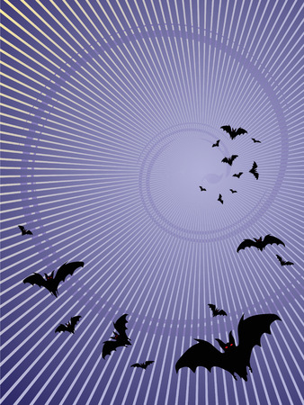 halloween backgrounds. bats silhouette . vector
