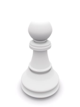 white pawn isolated on white. 3D chess Stock Photo - 5554003