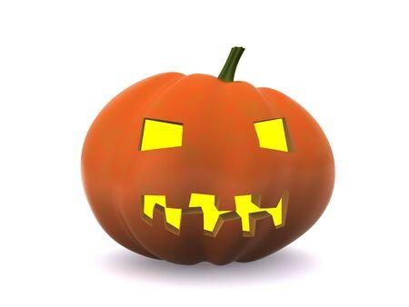 halloween pumpkin isolated on white. 3D Stock Photo - 5553988