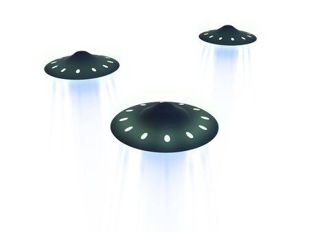 flying ufo. 3D photo