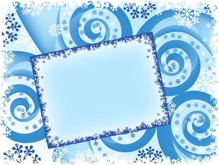 holiday Christmas spiral abstract card. vector Vector