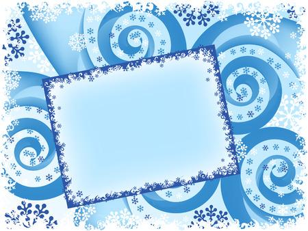 holiday Christmas spiral abstract card. vector Vector