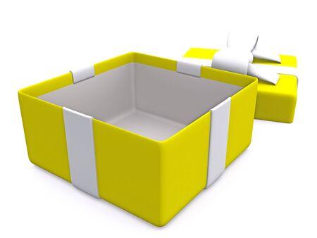 open gift box. 3D photo