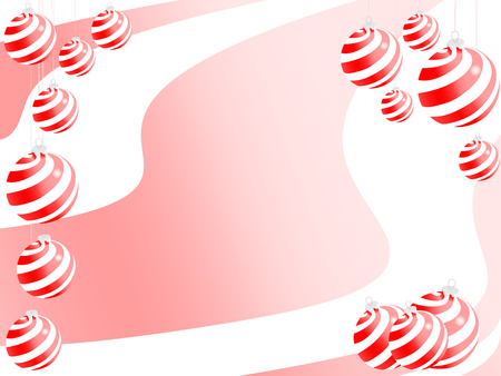 christmas sphere backgrounds. holiday vector  Stock Vector - 5826446