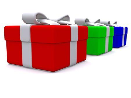 rgb: RGB gift boxes. 3D