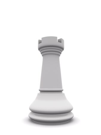 the rook: white rook. 3d chess  game