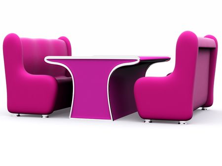 set of two sofas and table photo