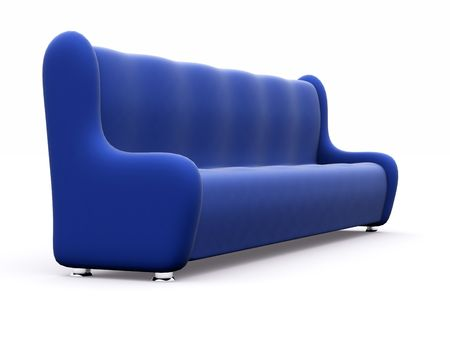 long sofa at many places. 3d Stock Photo - 6312597