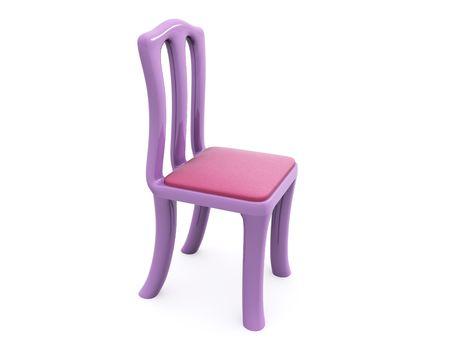 single chair. 3d Stock Photo - 6312593