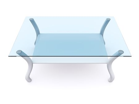 glass coffee table. 3d Stock Photo - 6312585