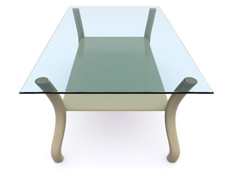 glass coffee table. 3d Stock Photo - 6469989