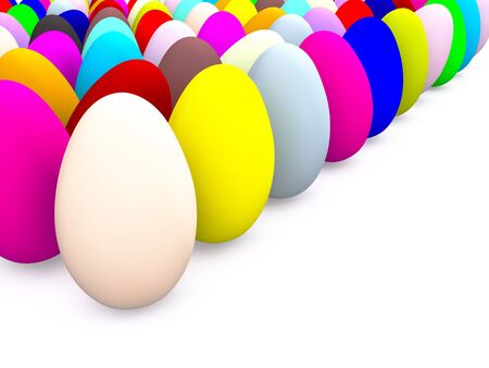 many colored easter eggs. 3d Stock Photo - 6497090