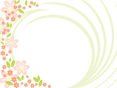 ornamental plant: abstract spring floral background.