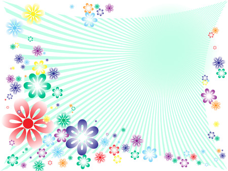 abstract spring floral background. Vector