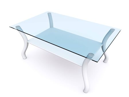 glass coffee table. 3d Stock Photo - 6684939
