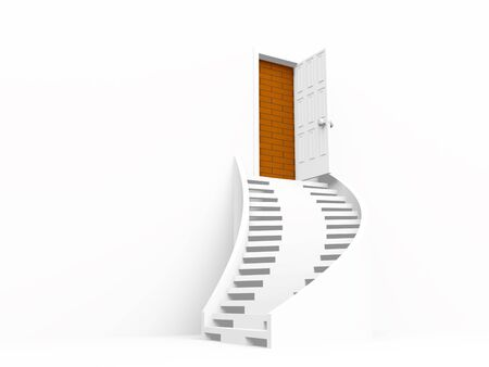 open door. 3d on white Stock Photo - 6931764