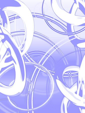 circumference: vivid abstract spiral background. illustration Stock Photo