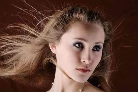 attractive girl with flowing hair Stock Photo - 7363150