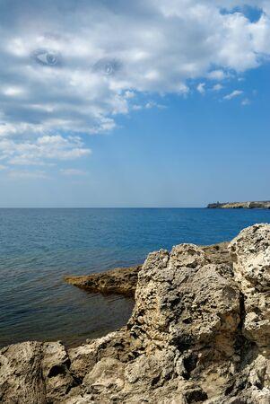 sea rocky bay. landscape photo