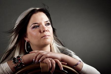 portrait of attractive girl. Studio shot Stock Photo - 8558617