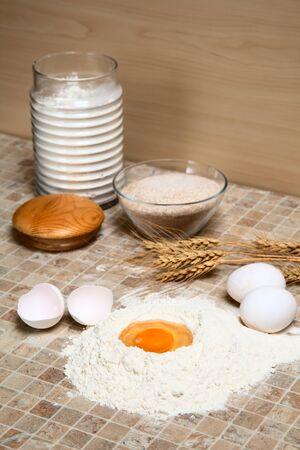 stillife: stillife with eggs and flour