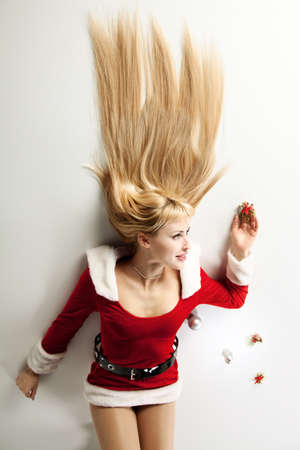 attractive girl in xmas clothing Stock Photo - 8553413
