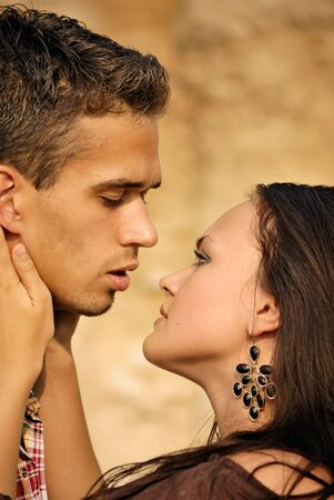 beautiful young couple.  Romance feelings Stock Photo - 8643475