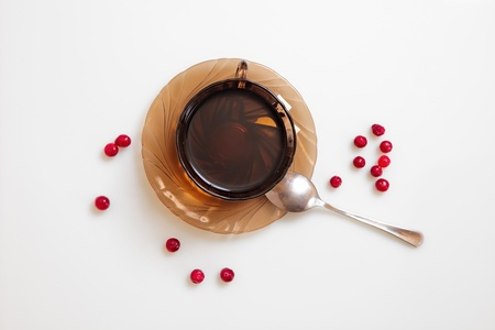 stillife: stillife with berry and tea Stock Photo