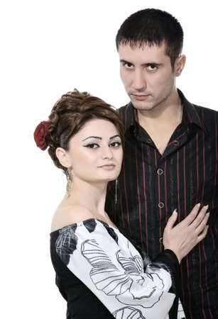 attractive girl and handsome man photo
