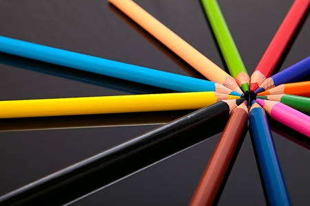 many colored pencils photo