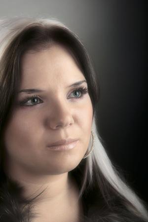 portrait of attractive girl. Studio shot Stock Photo - 10180926
