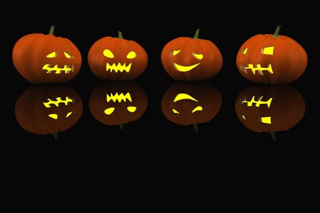 halloween pumpkin. 3d Stock Photo - 10452801