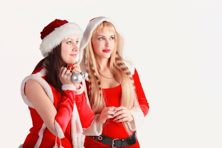 attractive girl in xmas clothing Stock Photo - 10570410