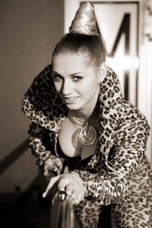 attractive woman in exotic costume. indoor shot Stock Photo - 12269978