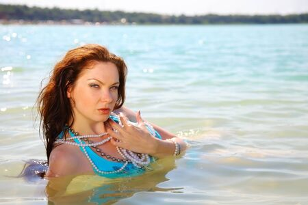 summer portrait of attractive woman in swimsuit Stock Photo - 16548239