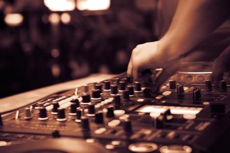 nightclub parties. DJ Stock Photo