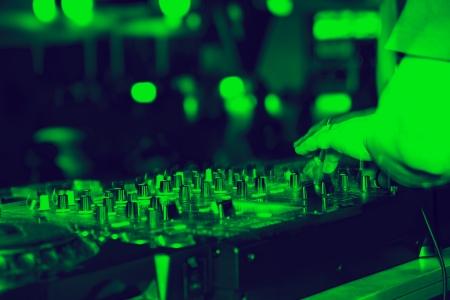 nightclub parties DJ. sound equipment Stock Photo - 24253529