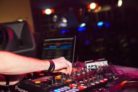 nightclub parties DJ. sound equipment photo