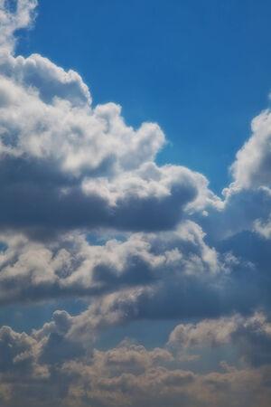 morning sky: sfondo cielo del mattino. Cloudscape Archivio Fotografico