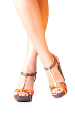 sandals. shoes on white background photo